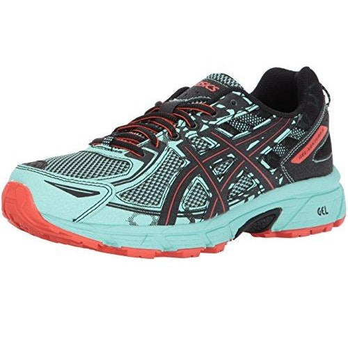 ASICS Women's Gel-Venture 6 Running-Shoes Ice Green Black Cherry Tomato