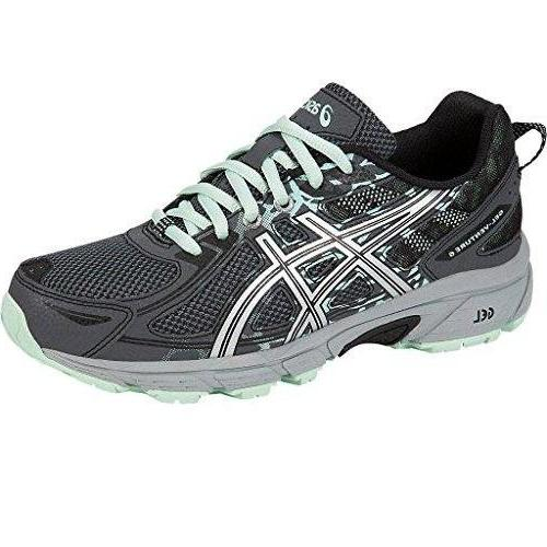 ASICS Women's Gel-Venture 6 Running-Shoes Black Carbon Neon Lime