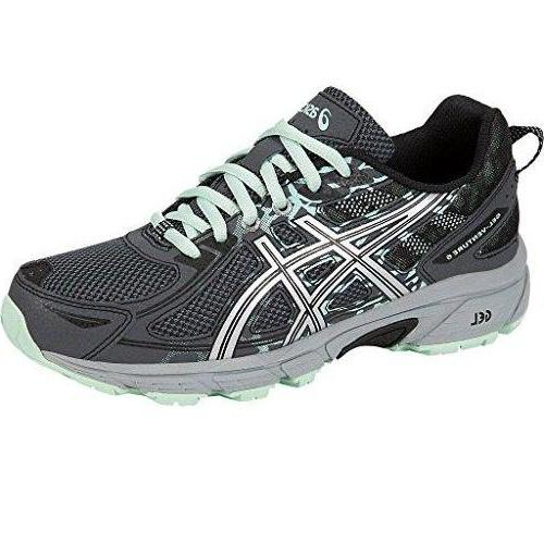 ASICS Women's Gel-Venture 6 Running-Shoes Castlerock Silver Honeydew
