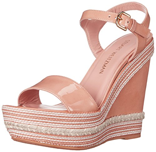 Stuart Weitzman Women's Single Wedge Sandal Adobe Pink