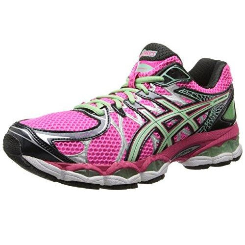 ASICS Women's Gel-Nimbus 16 Running Shoe,Hot Pink/Green/Black