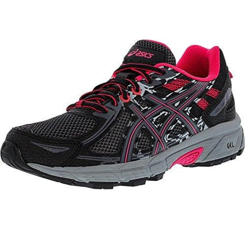 ASICS Women's Gel-Venture 6 Black Pixel Pink Ankle-High Running Shoe