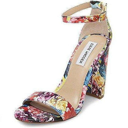 Steve Madden Women's Carrson Heeled Sandal Flower Multi