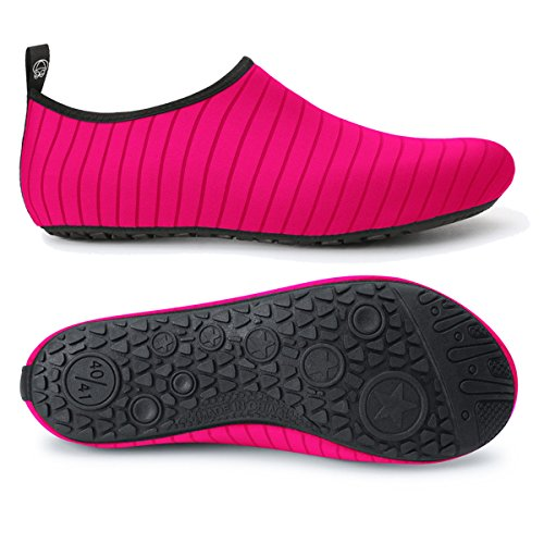 Women's Fashion Outdoor Water Aerobics Shoes for Swim Camping Pool Pink