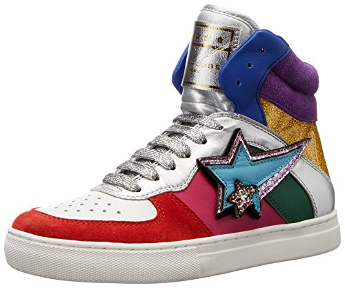 Marc Jacobs Women's Eclipse High Top Fashion Sneaker, Rainbow Multi