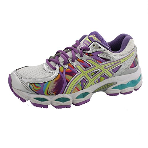 ASICS Women's GEL-Nimbus 16 Running Shoe Iridescent/Green/Blue)