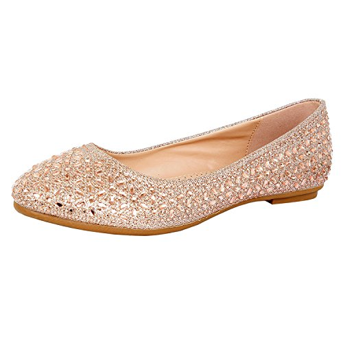 Guilty Heart Princess Classic Slip On Ballerina Ballet Flats Flats Rose Star