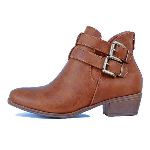 Guilty Heart | Womens Low Heel Casual Closed Toe Walking Ankle Bootie | Comfortable & Casual (Previously Guilty Shoes)