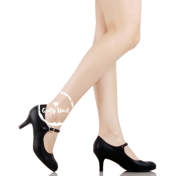 Guilty Heart - Womens Classic Mary Jane Low Mid Kitten Heel Round Toe Pumps (Previously Guilty Shoes)