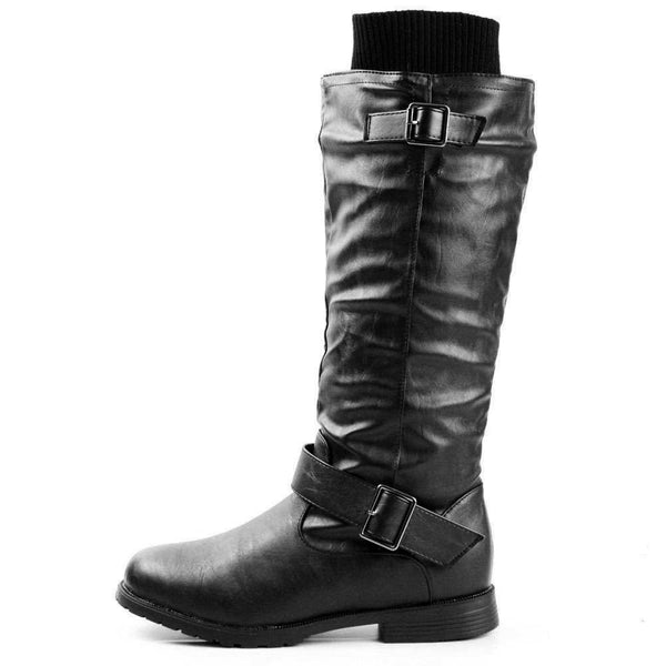 Osaka Riding Boots Knee High Sweater Motorcycle Shoes
