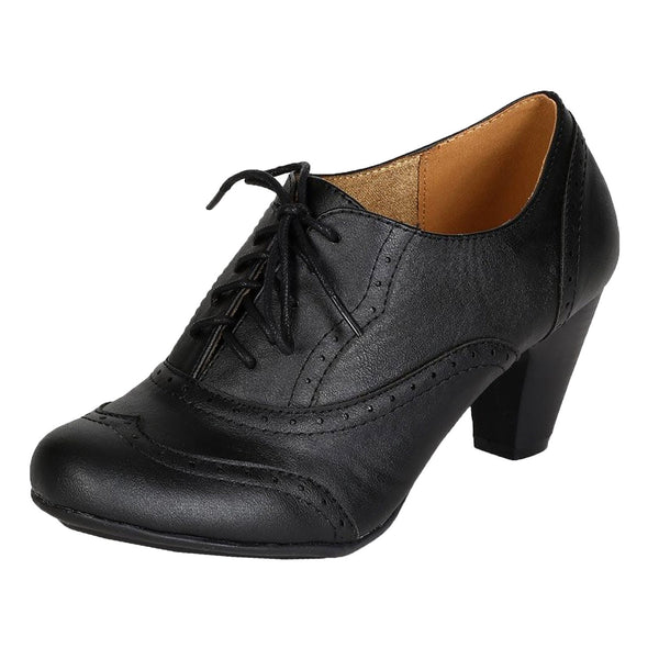 Amany-01 Oxford Ankle Booties