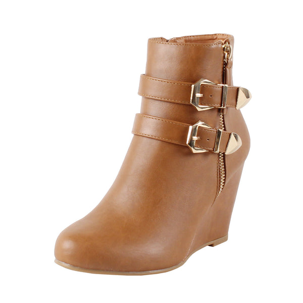 Amman Ankle Wedge High Heel Ankle Boots