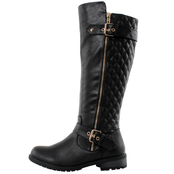 Atlanta Quilted Knee High Boots