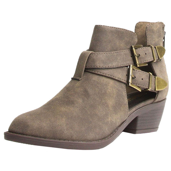 Autry Cut Out Double Buckles Ankle Booties