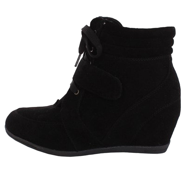 Beata-02 High Top Wedge Sneaker Booties