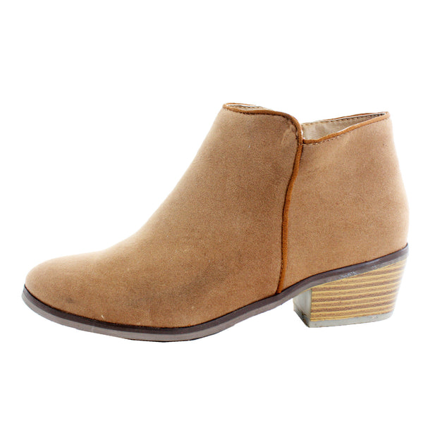 Beauty-03 Chunky Heel Ankle Boots