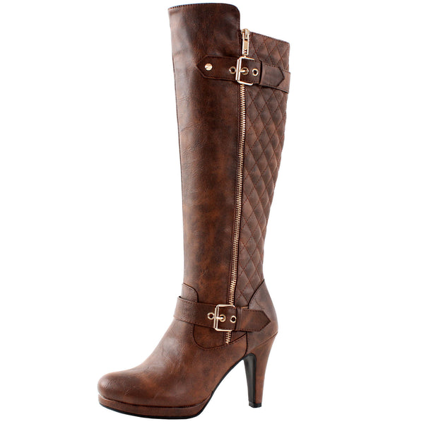 Boston Quilted Knee High Boots
