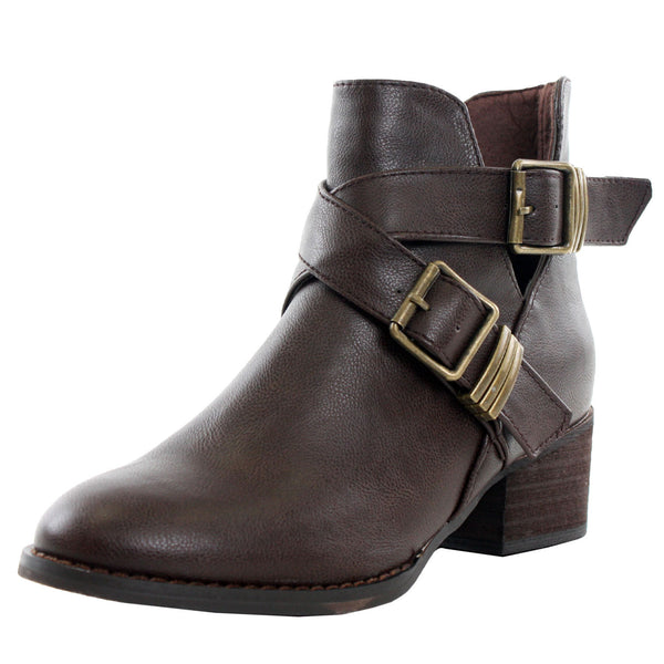Bronco-11 Chunky High Heel Ankle Boots