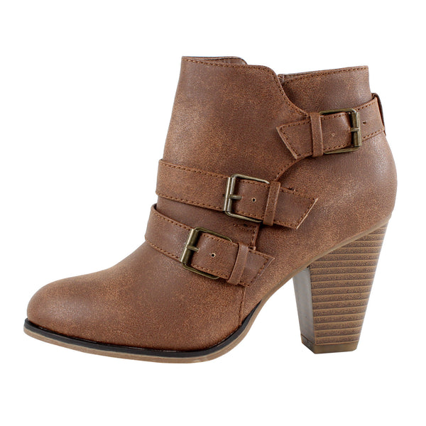 Camila-64  Chunky Heel Ankle Boots