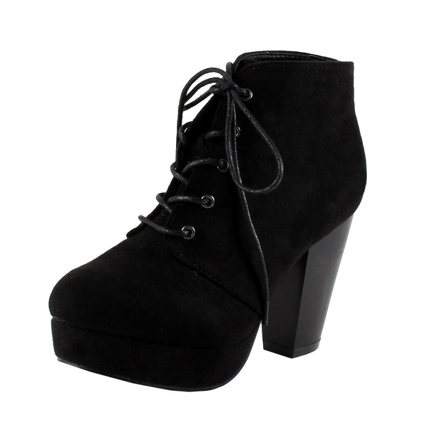 Camille-86 Chunky High Heel Ankle Boots
