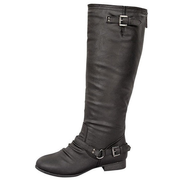Coco-1 Motorcycle Knee High Casual Boots