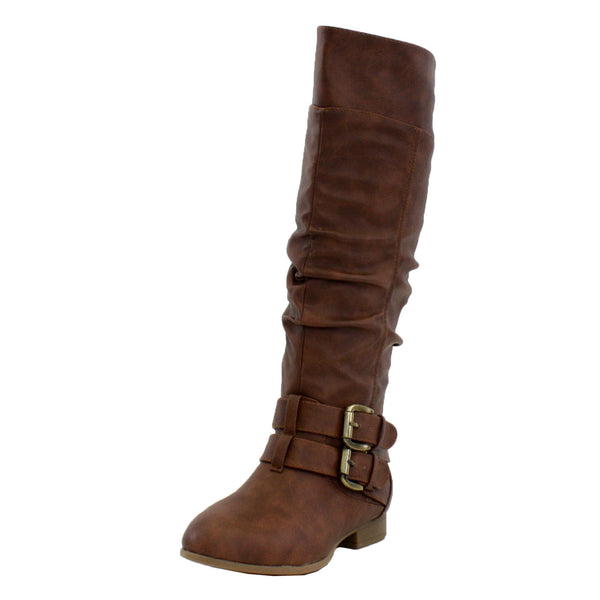 Coco-20 Slouchy Buckles Knee High Boots