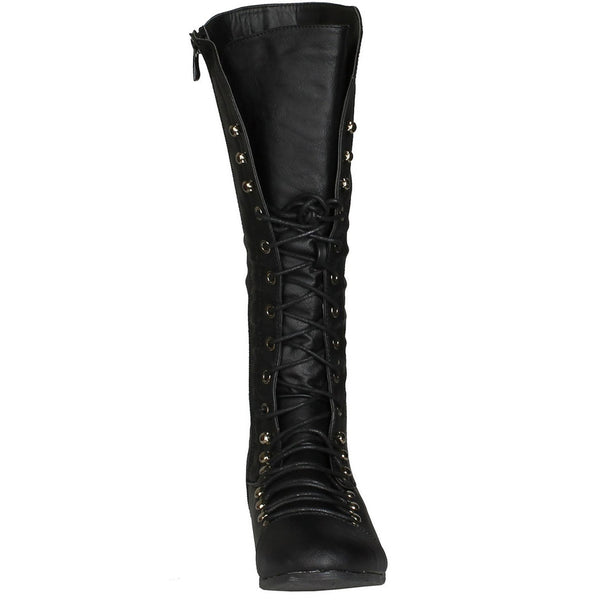 Coco-39 Lace-up Knee High Boots