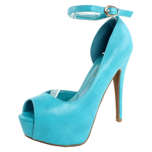 Colby-1 Peep Toe Stiletto Pumps