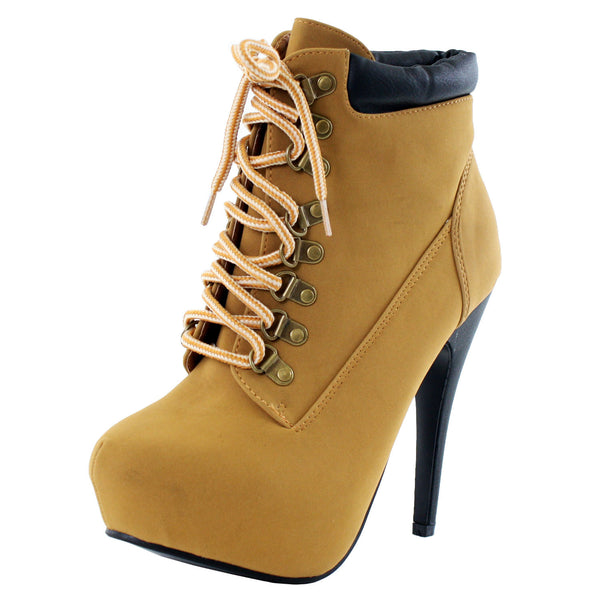 Compose-01 Lace Up Stiletto Ankle Boots