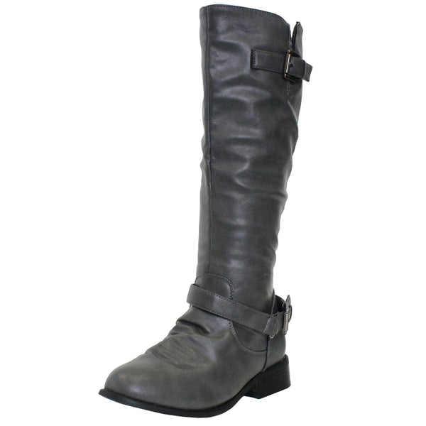 Dallas Riding Motorcycle Slouchy Knee High Boots