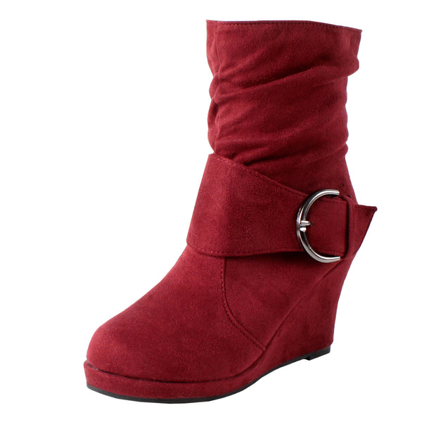 Damascus Slouchy Ankle Wedges Boots