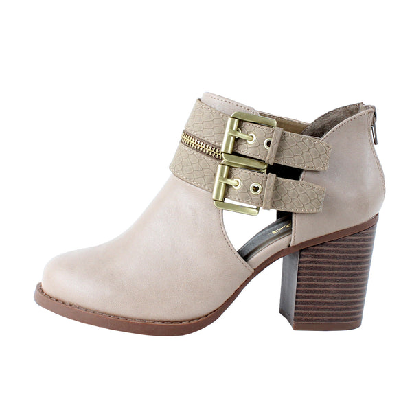 Decker-S Cut Out Buckle Ankle Boots