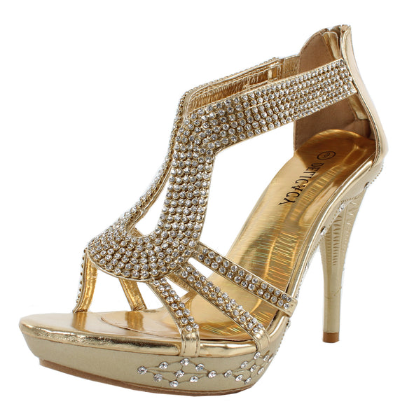Delicacy-06 Rhinestones Evening Formal High Heels