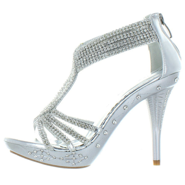 Delicacy-07 Rhinestone Party High Heels
