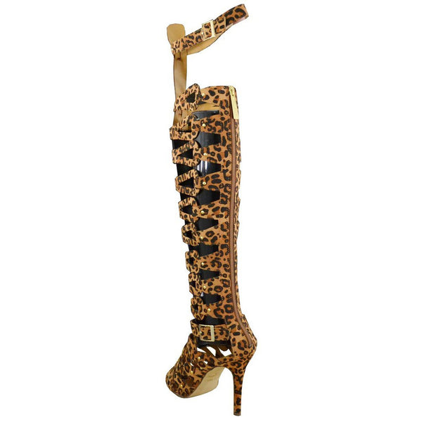 Diva-31 Thigh High Gladiator Stiletto Sandal Boots