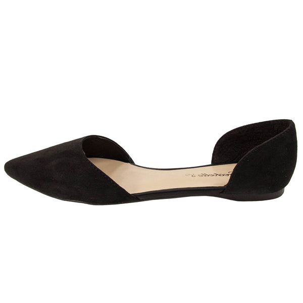 Dolley-23 Pointed Toe D-Orsay Ballet Flats