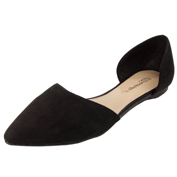 Dolley-43 Slip On D-Orsay Ballet Flats