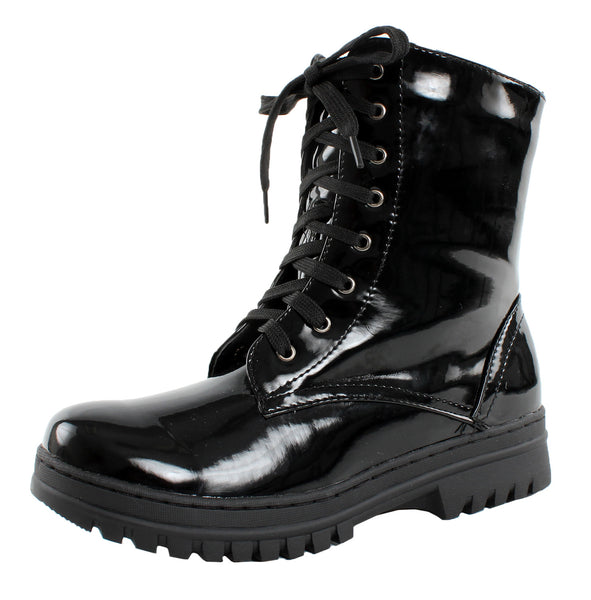 Dolly-02 Lace Up Combat Ankle Boots