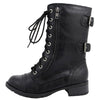 Dome Military Zipper Combat Boots