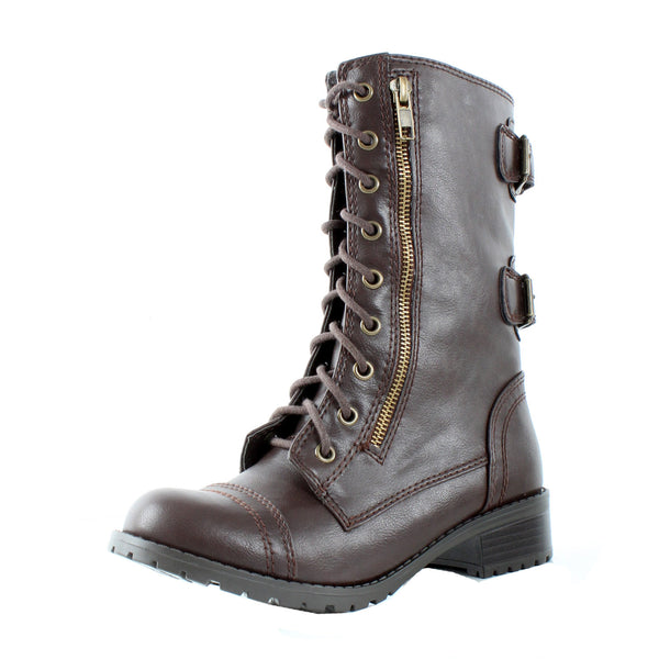 Dome Combat Lace Up Mid Calf Military Boot