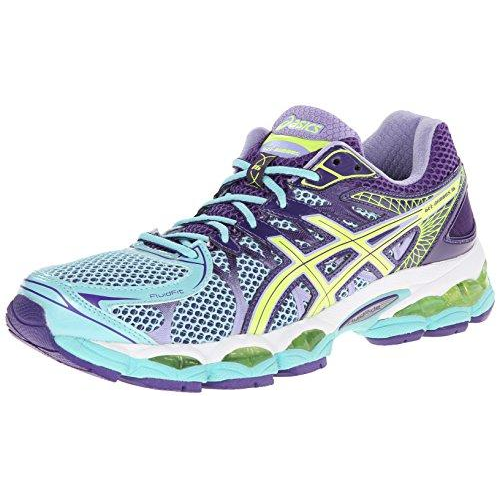 01c3a3cc5f90 ... ASICS Women s GEL-Nimbus 16 Ice Blue Flash Yellow Purple Sneaker ...