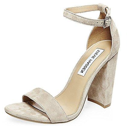 Steve Madden Women's Carrson Dress Sandal Taupe Suede