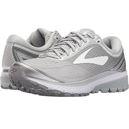 Brooks Women's Ghost 10 Microchip/White/Metallic Charcoal