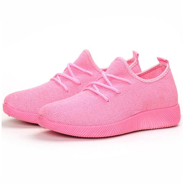 Women Sneakers Light Weight Woman Casual Shoes Slip On Lazy Shoes Comfortable Candy Color Breathable Mesh Net Shoe