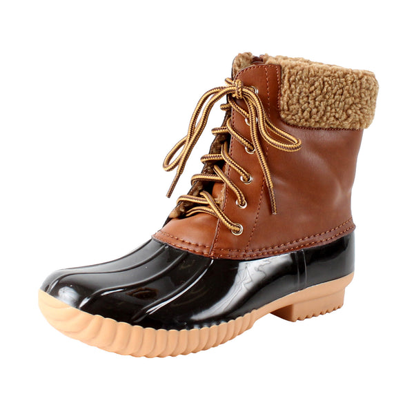 Duck-02 Faux Shearling Ankle Rainboots