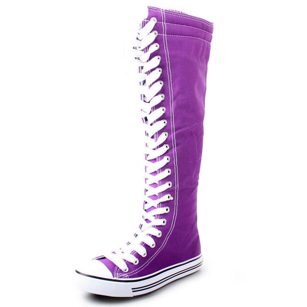 Classic Knee High Lace Up Sneaker Boots