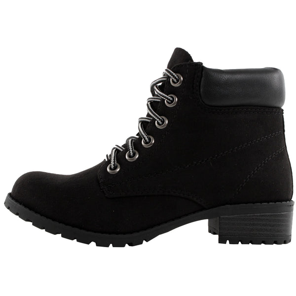 Equity-S Padded Collar Combat Ankle Boots