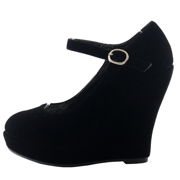 Erika-56 Mary-Jane Wedge Pumps