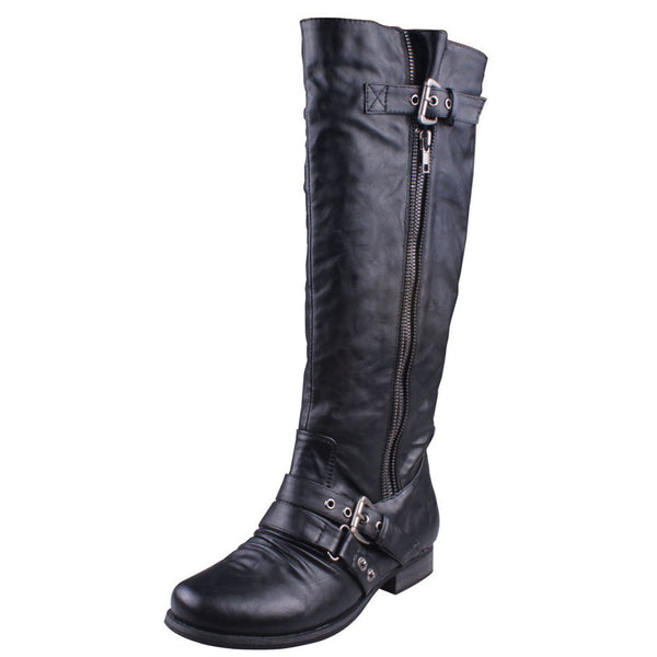 Finly-01 Knee High Riding Motorcycle Boots