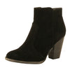 Guilty Heart Womens Block Heel Buckle Closed Toe - Strappy Ankle Bootie Boots (Previously Guilty Shoes)